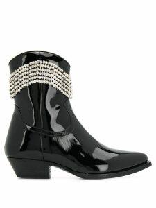 Chiara Ferragni crystal embellished boots - Black