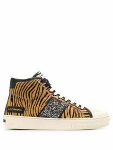 Moa Master Of Arts tiger print hi-top sneakers - Neutrals
