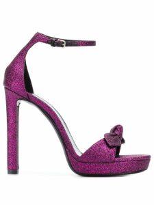 Saint Laurent bow detail sandals - Pink