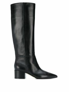 Sergio Rossi side zip detail boots - Black