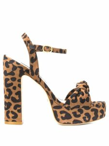 Stuart Weitzman Mirri 140 cheetah print sandals - Brown