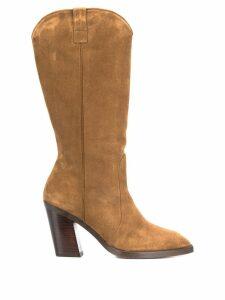 Stuart Weitzman Cheska calf boots - Brown