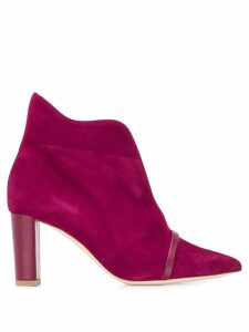 Malone Souliers front slit ankle boots - PINK