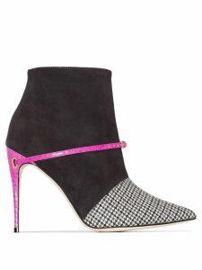 Jennifer Chamandi Niccolo check pattern ankle boots - Grey