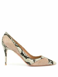 Aquazzura Satine 85 Pumps - Grey