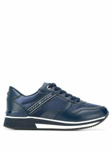 Tommy Hilfiger leather lace-up sneakers - Blue