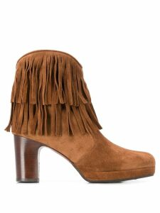 Chie Mihara fringed ankle boots - Brown