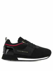 Tommy Hilfiger panelled lace-up sneakers - Black