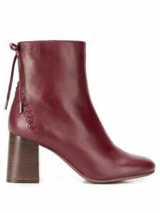 See By Chloé Howl Stitch booties - Red