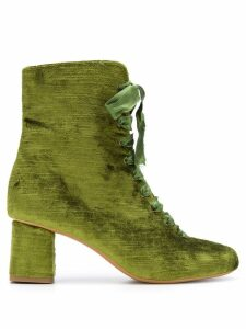 Forte Forte lace-up ankle boots - Green