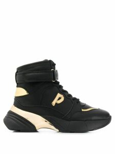 Pinko P logo sneakers - Black