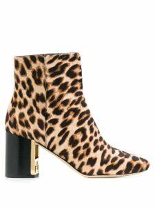 Tory Burch Gigi leopard print boots - Neutrals