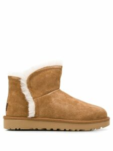 Ugg Australia mini fluff slip-on boots - Brown