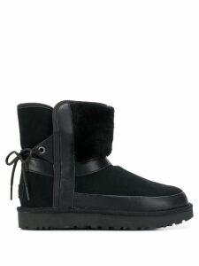 Ugg Australia leopard lined ankle boots - Black