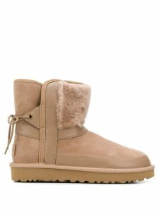 Ugg Australia leopard lined ankle boots - Neutrals