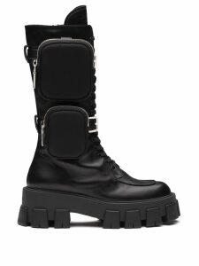 Prada Monolith chunky boots - Black