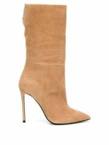 Grey Mer calf length boots - NEUTRALS