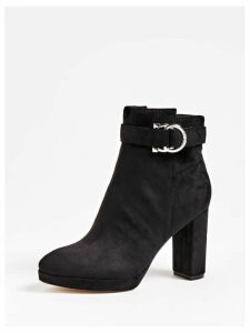 Guess Abbea Suede Ankle Boot With Strap