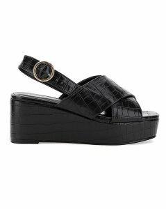 Ripley Cross Strap Flatform Wide Fit