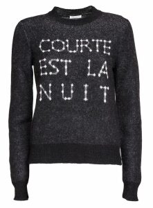 Saint Laurent Black Wool Blend Sweater