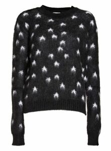 Saint Laurent Jacquard Sweater With Brushed Stars