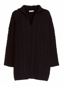 Balenciaga Swing Oversized Pullover In Mixed Cable Knit