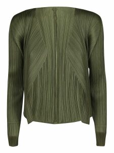 Pleats Please Issey Miyake Pleated Short Cardigan