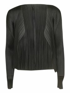 Pleats Please Issey Miyake Open Front Cardigan
