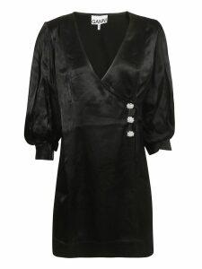 Ganni Wrap Style Dress