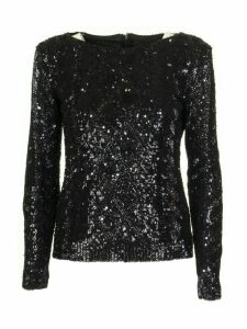 Max Mara Black Paillettes Top