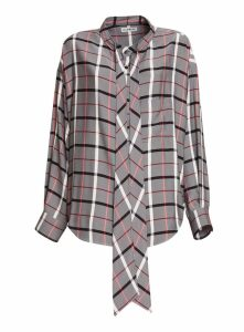 Balenciaga Multicolor Check Swing Shirt With Back Logo