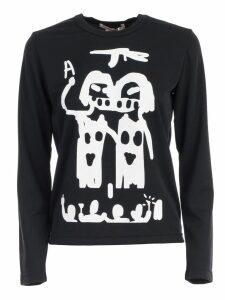 Comme des Garçons Sweater L/s Crew Neck W/print