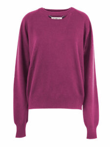 Maison Margiela Bordeaux Cashmere Cut-out Jumper