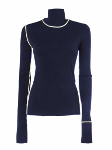 Maison Margiela Navy Blue Wool Jumper