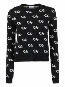Chiara Ferragni Initials Logo Knit Sweater