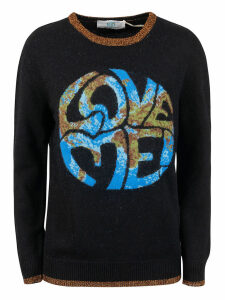 Alberta Ferretti Love Me! Earth Print Sweater