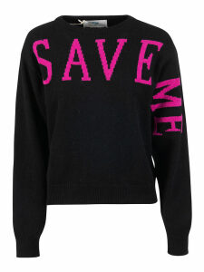 Alberta Ferretti Save Me Back Heart Print Sweater