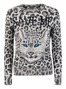 Alberta Ferretti Save Me Cat Knit Sweater