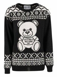 Moschino This Is Not A Toy Bear Knit Sweater