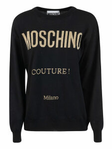 Moschino Couture! Logo Print Sweater