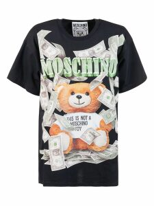 Moschino Cash This Is Not A Toy Bear Print Oversized T-shirt