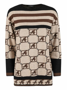 Alberta Ferretti Striped Sweater