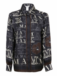 Patterned Silk Shirt