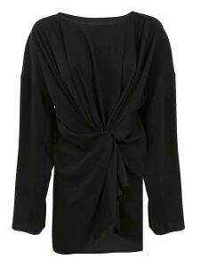 Black Technical Fabric Blouse