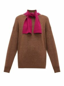 See By Chloé - Tie Neck Wool Sweater - Womens - Beige