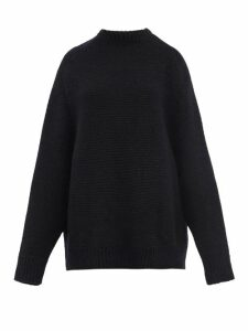 Raey - Crew Neck Basket Weave Wool Sweater - Womens - Navy