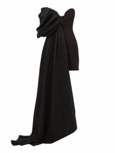 Ellery - Ecuador Draped Taffeta Mini Dress - Womens - Black