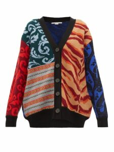 Stella Mccartney - Patchwork Knitted Wool Cardigan - Womens - Multi
