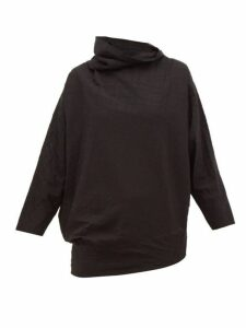 Issey Miyake - Lattice Jersey High-neck Top - Womens - Black