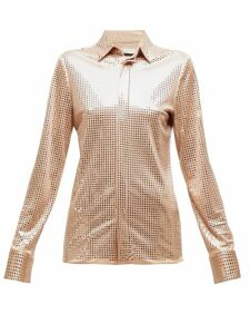 Bottega Veneta - Mirrored Crepe Shirt - Womens - Nude